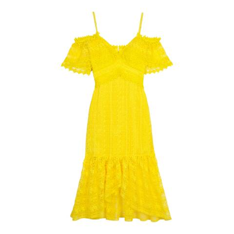Three Floor Yellow Starry Eyed Dress