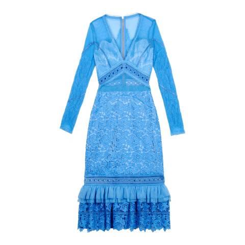 Three Floor Cornflower Blue Mesmerized Dress