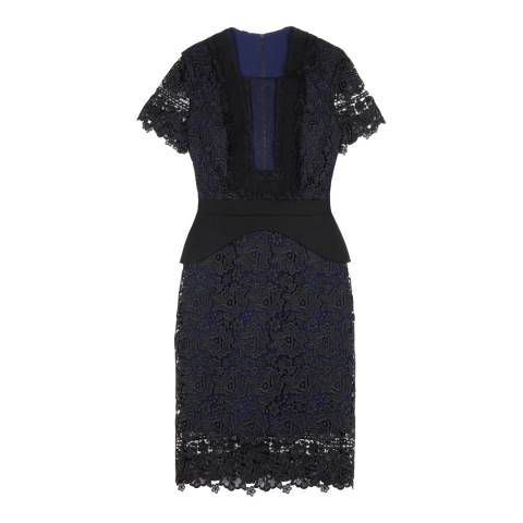 Three Floor Black / Navy Treasure Trove Dress