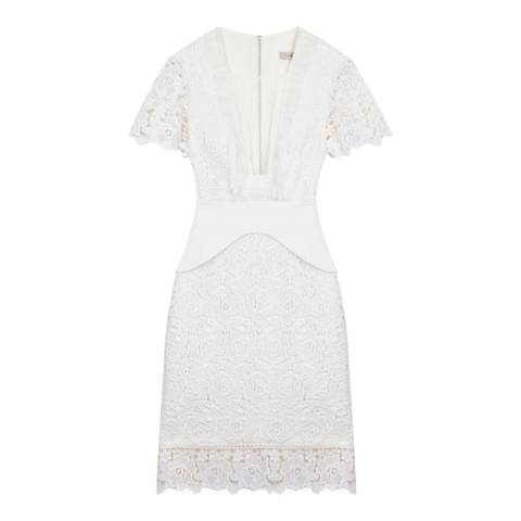 Three Floor Off White White-On-Track Dress