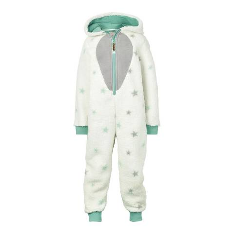 Fat Face Girls Ecru Arctic Fox Fleece Onesie