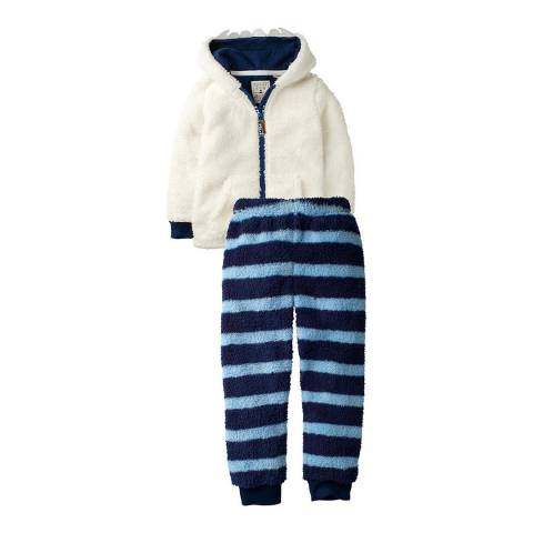 Fat Face Boys Ecru Thick Yeti Pyjama Set