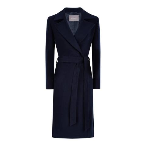 Jaeger Navy Wrap Coat