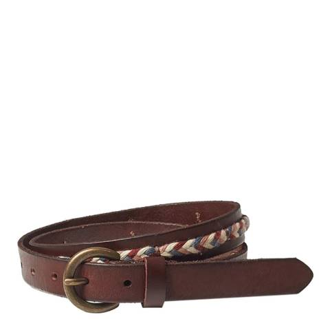 Fat Face Chocolate Brown Elle Multi Plait Belt