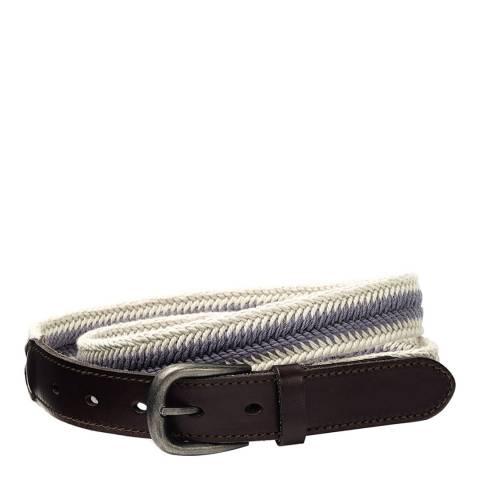 Fat Face Blue Striped Webbing Belt
