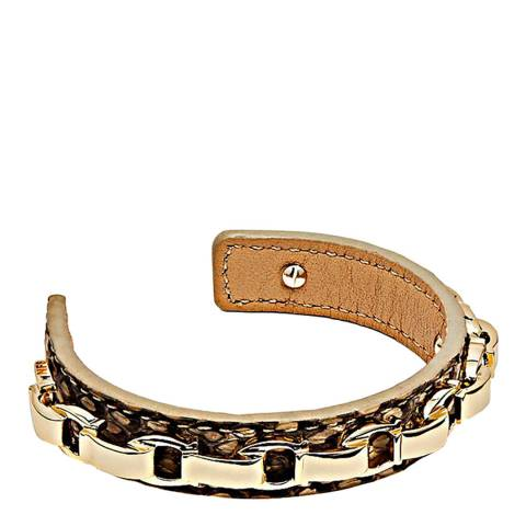Coach Gold Exotic Charming Links Cuff