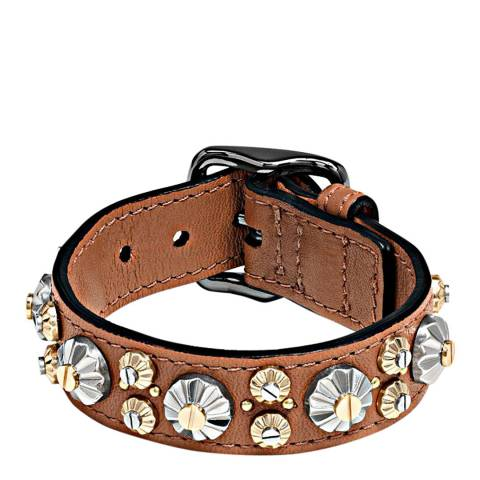 Coach Saddle Daisy Rivet Bracelet