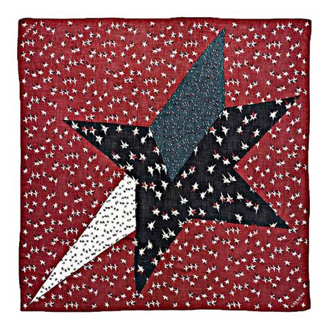 Coach Cherry Vintage Stars Oversized Square Scarf