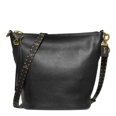 Coach Black Studded Leather Duffle Bag