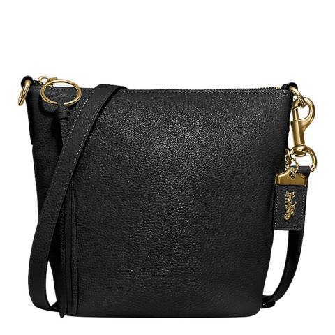Coach Black Leather Glovet Shoulder Bag
