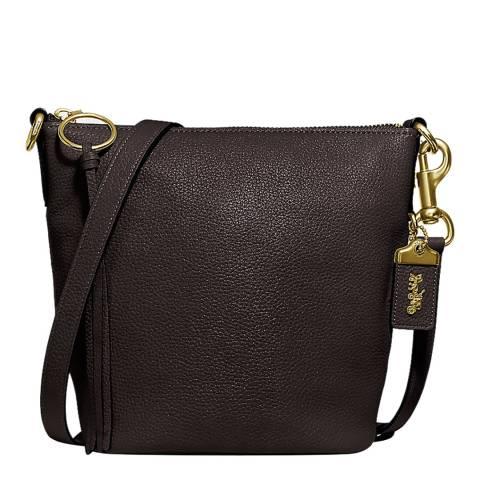 Coach Dark Oxblood Leather Glovet Shoulder Bag