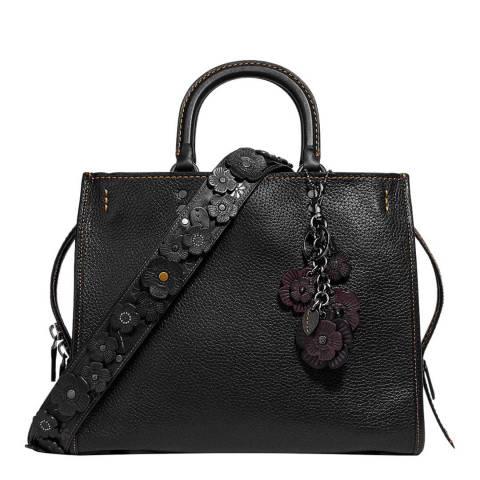 Coach Black Pebble Leather Rogue Bag