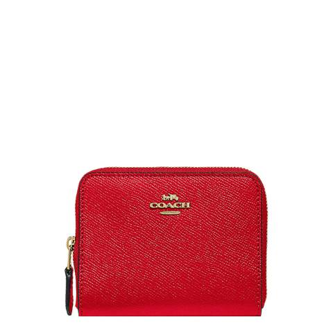 Coach Jasper Red Small Zip Around Wallet