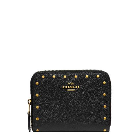 Coach Black Border Rivets Small Wallet
