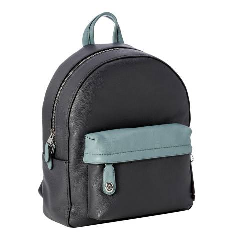 Coach Navy Cloud Pebbled Sailboat Campus Backpack