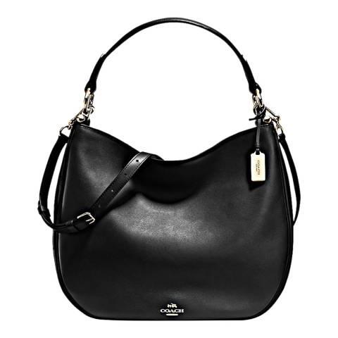 Coach Black Glovetan Leather Nomad Hobo Bag