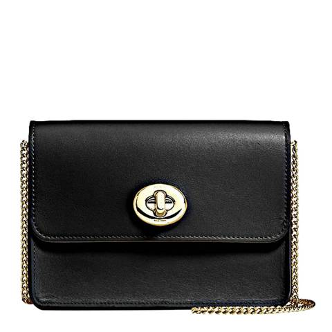 Coach Black Refined Calf Leather Bowery Crossbody Bag