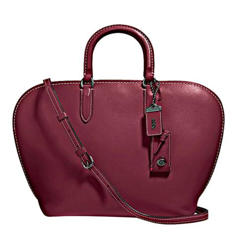 Coach Deep Plum Glovetanned Leather Dakotah Satchel Bag