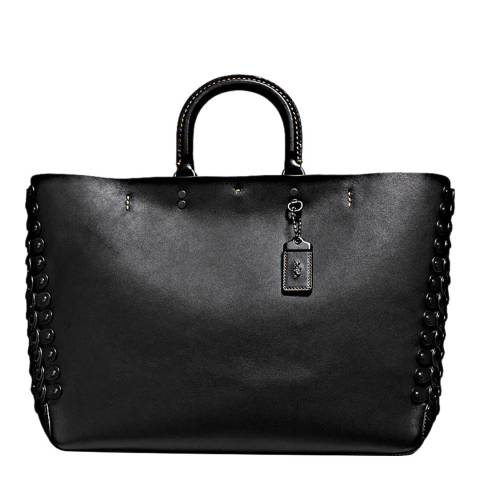 Coach Black Link Detail Rogue Tote Bag