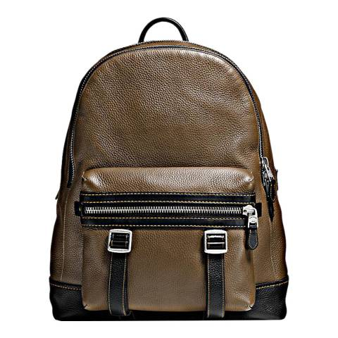 Coach Military/Black Nautral Pebble Flag Backpack