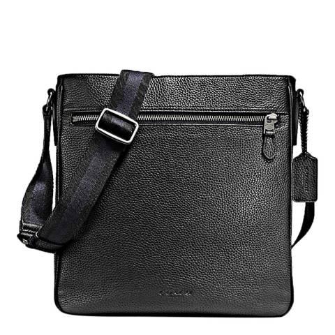 Coach Black Pebbled Metropolitan Crossbody Bag