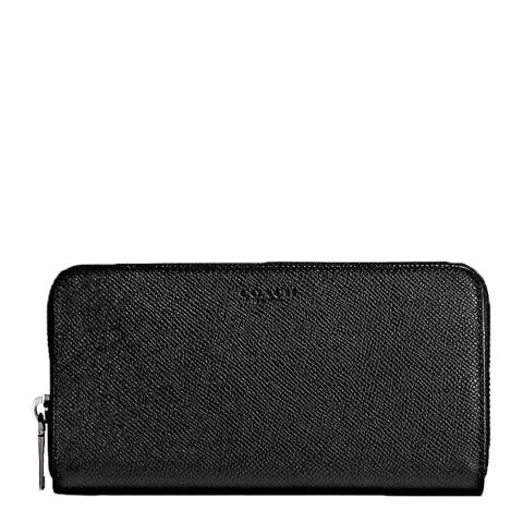 Coach Black Crossgrain Accordion Wallet