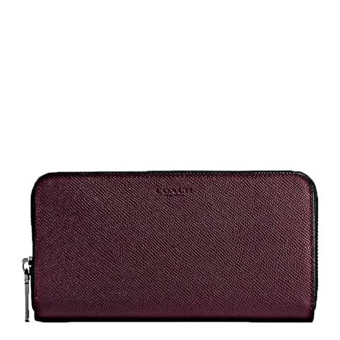 Coach Oxblood Crossgrain Accordion Wallet