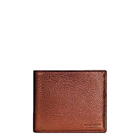 Coach Rust 3 In 1 In Metallic Leather Wallet