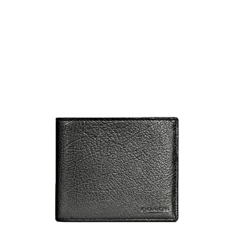 Coach Graphite 3 In 1 In Metallic Leather Wallet