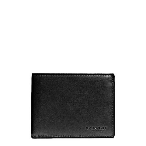 Coach Black Sport Calf Slim Billfold ID Wallet