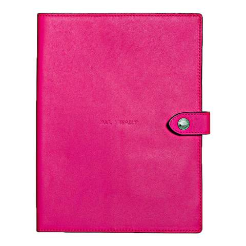 Coach Bright Pink Glovetanned Sketchbook