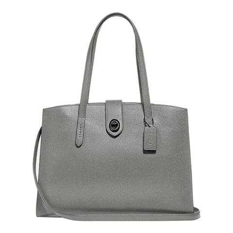 Coach Heather Grey Turnlock Charlie Tote