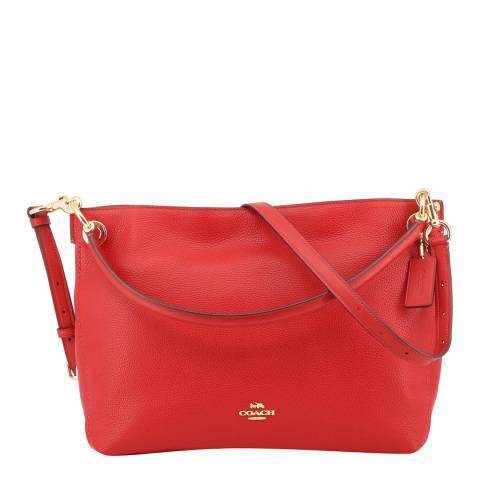 Coach Red Leather Clarkon Hobo Bag
