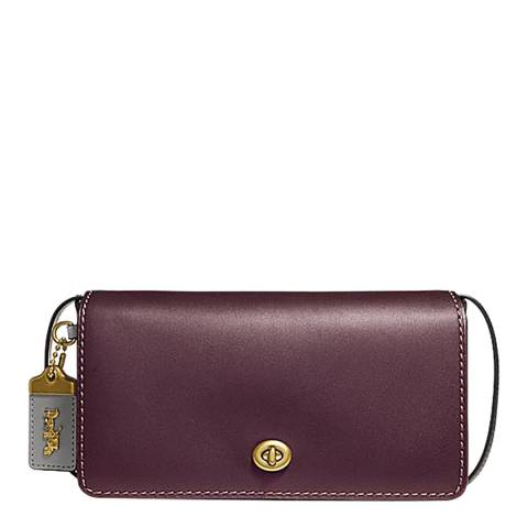 Oxblood Colourblock Dinky Leather Bag by Coach