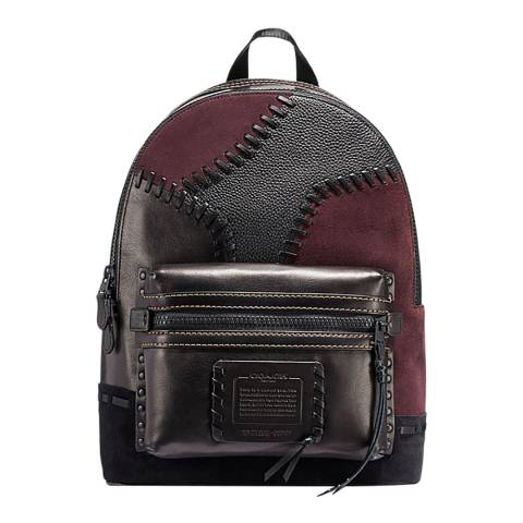 Coach Black/Mahogany Patchwork Academy Backpack