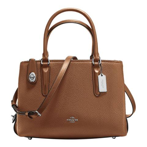 Coach Saddle Pebble Leather Brooklyn 28 Carryall Bag