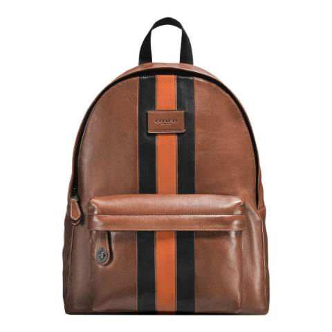 Coach Brown Varsity Stripe Campus Backpack