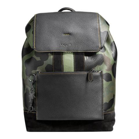 Coach Black / Khaki Military Wild Beast Manhattan Backpack