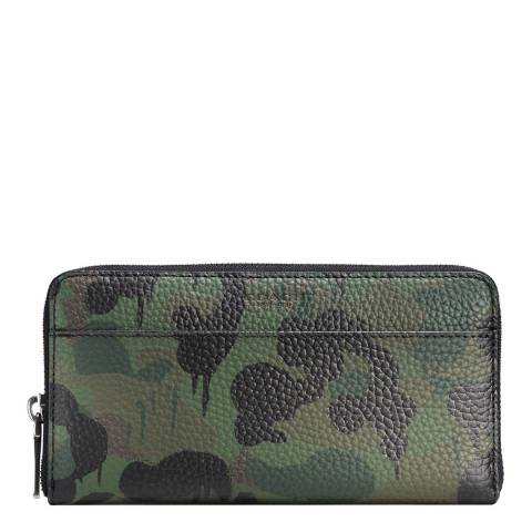 Coach Khaki Wild Beast Camouflage Accordion Wallet