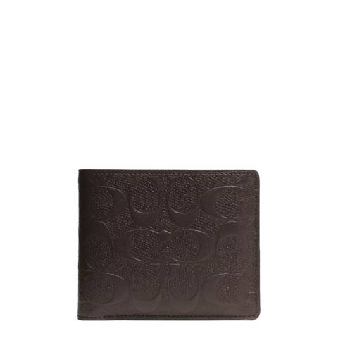 Coach Mahogany Leather Compact ID Wallet