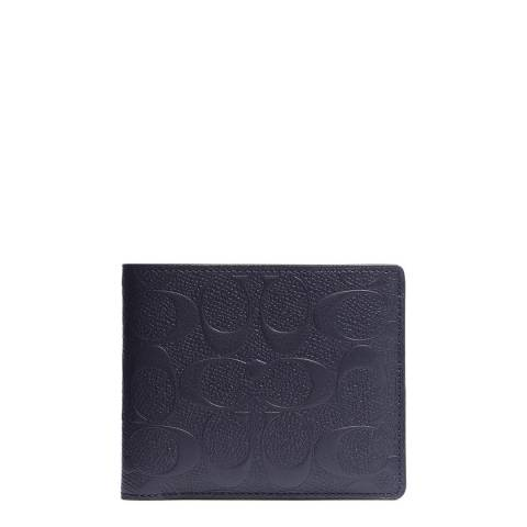 Coach Midnight Leather Compact ID Wallet