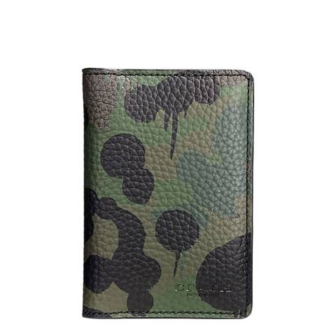 Coach Khaki Military Wild Beast Camouflage Card Wallet