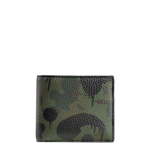 Coach Khaki Wild Beast Camouflage Compact Id Wallet