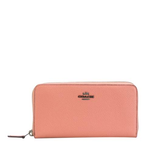 Coach Melon Accordion Zip Wallet Pebble Leather