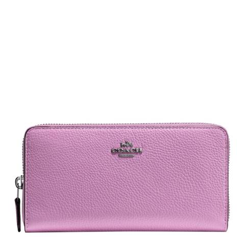 Coach Lily Accordion Zip Wallet Pebble Leather