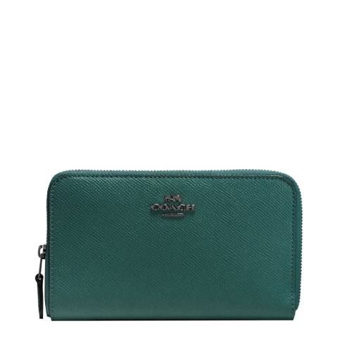 Coach Dark Turquoise Medium Zip Around Wallet