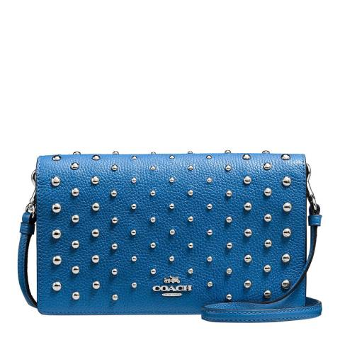 Coach Ombre Fold over Rivet Pebble Leather Bag