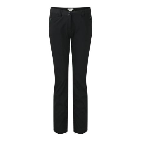 Craghoppers Black KiwiPro Stretch Lined Trousers