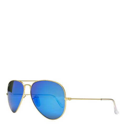 Ray-Ban Blue Men Aviator Ray Ban Sunglasses 58mm