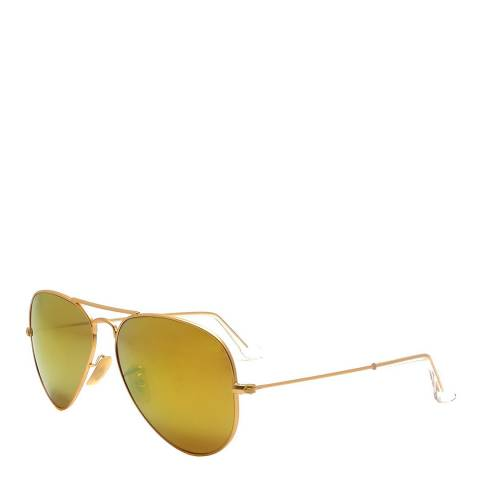 Ray-Ban Gold/green Men Aviator Ray Ban Sunglasses 58mm